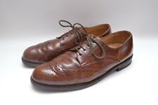 Fabulous Genuine Vintage Quality Leather Mens Brown Brogues Wingtips