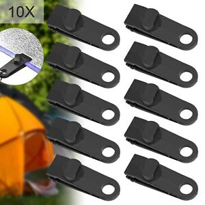 Reusable Windproof Clip Awning Clamp Tarp Clips Snap Hanger Tent Camping 10PCS