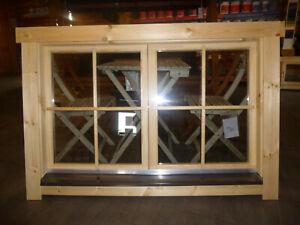 Doppelfenster Doppel-, Isolierglas 1380x880mm für Ferien-, Gartenhaus in 70mm