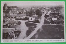 A.E.SHAW Postcard c.1910 VIEW FROM SHAWS BOX-KITE LYDD KENT
