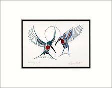 RICHARD SHORTY Kwakwaka'wakw Kwagiulth native artist HUMMINGBIRDS art print