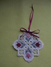 Mauve Tulip Hardanger Ornament