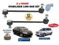 FOR KIA CARENS MAGENTIS OPTIMA 2005-> NEW 2 x FRONT STABILISER SWAY LINK BAR SET