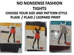 No Nonsense Fashion Tights Various Sizes and Pattern (Small,Med,Large)