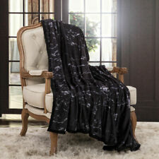 Black Marble Soft Warm Blanket Throw Rug 150x200cm Size Lounge Sofa Bed Cover
