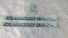 DIAMOND BACK SILVER BLACK DECALS BMX BICYCLE RACING STICKERS RARE