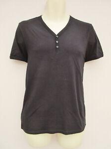 Topman - Mens Black Short Sleeved V neck T shirt - size M