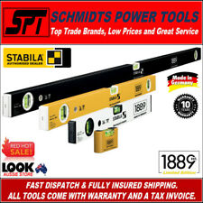 STABILA 1889 4 PIECE SPIRIT LEVEL SET 130 YEAR EDITION 400mm, 600mm & 1200mm NEW