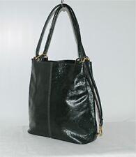 Grand sac vert en simili cuir façon autruche Très bon état