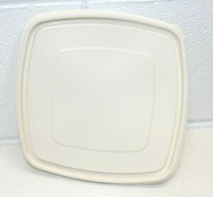 """Rubbermaid 8.5"""" Servin Saver Square #3 Almond Replacement Lid Seal 0013 CLEAN"""