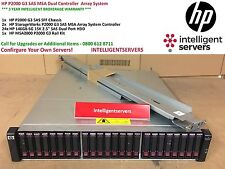 HP P2000 G3 SAS MSA Dual Controller 3.5TB Array System with Rails ** AW594A **