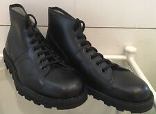 New Mens Retro 60'S Style Black Original Monkey Boots Made By Grafters Size 9 UK