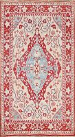 Vegetable Dye Floral Authentic Oushak Turkish Area Rug Hand-knotted 4'x6' Carpet