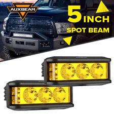 "AUXBEAM 5"" 60W Car LED Work Light Bar Spot Pods Driving Offroad Amber Fog Lamp"