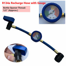 R-134A Car Recharge Refrigerant Hose A/C with Air Conditioning Pressure Gauge