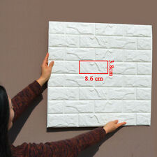 White PE Foam 3D Brick Wall Sticker Self-Adhesive DIY Panels Decal