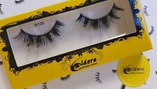 Eldora False Eyelashes M105 Multi-layered Human Hair Strip Lashes