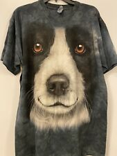 The Mountain Border Collie Dog Face T-Shirt New Size Large