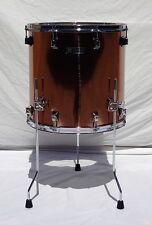 New Taye RockPro 16x16 Floor Tom In Brushed Copper Finish