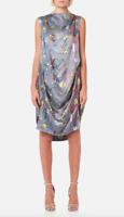 Vivienne Westwood Anglomania Women's Grey Fatima Dress  Size 1 SM 85959