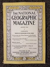 National Geographic Magazine August 1924 Oldest Statues in the World,  Spain