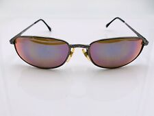 New listing Vintage Revo 1125 001/12 Gray Metal Oval Sunglasses Frames Italy