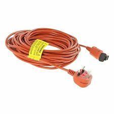 POWER MAINS CORD CABLE & PLUG FOR FLYMO LAWNMOWERS HEDGE & GRASS TRIMMERS 15M