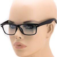 Men's Women RETRO VINTAGE NERD Style Clear Lens EYE GLASSES Black Fashion Frame