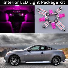 9PCS Bulbs Pink LED Interior Light Package kit Fit 08-2014 Infiniti G37 Coupe J1