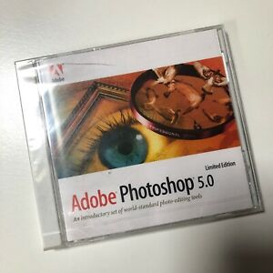 ADOBE PHOTOSHOP 5.0 Limited Edition 1998 Windows / Mac CD-ROM Drive NEW