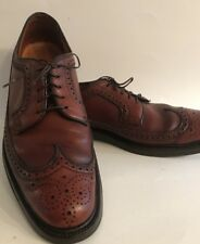 Florsheim Royal Imperial Wingtip Brown 11 AA Narrow  5 Nail V-Cleat Shoes Mens
