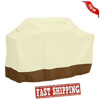 BBQ Grill Cover 58 Gas Barbecue Heavy Duty Waterproof Outdoor Weber Beige Patio