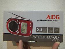 Aeg We 4125 Radio Poche Récepteur Mondial FM MW LCD Écran Radio-réveil 43992306