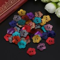 50 PCS MOTHER OF PERAL SHELL SEWING 2 HOLES BUTTONS 14MM #2010