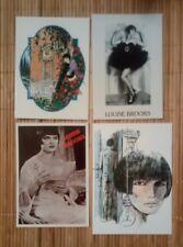 4 carte postale Louise Brooks dont Milo Manara et Guido Crepax