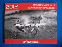 Honda 2012 CRF150R/RB BRAND NEW Owners Competition Handbook Service Manual  P84