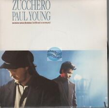 "Zucchero & Paul Young Senza Una Donna 45t 7"" france french pressing"