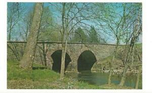 Vintage Postcard - Civil War - Old Stone Bridge - Bull Run - Manassas - Virginia