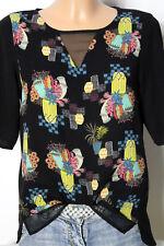 Vero Moda T-Shirt Gr. XS schwarz Blusen T-Shirt mit bunten Fantasie Motiven
