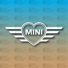 "Heart Mini Cooper Glitter Oil Slick Mini Cooper 8"" Custom Vinyl Decal Sticker"