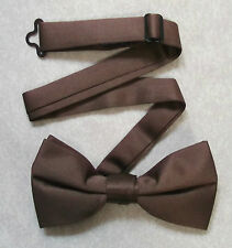 NEW COCOA BROWN DICKIE BOW TIE READY-TIED ADJUSTABLE FORMAL WEDDING NEW MENS