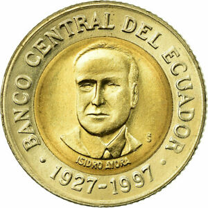 [#589153] Coin, Ecuador, 500 Sucres, 1997, AU(55-58), Bi-Metallic, KM:102