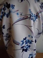 Vtg Rare Vibrant 70's CORZINI XL Hawaiian Aloha Shirt White Blue & Red Floral