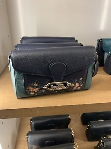 NWT Coach F91024 Jade Shoulder Bag With Rose Floral Print Multi color