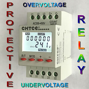 3 Phase Protective Relay: Over/Under voltage, phase sequence,asymmetry and more