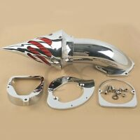 Chrome Spike Air Cleaner Intake Filter Fit For Honda Shadow Spirit ACE 750 98-13