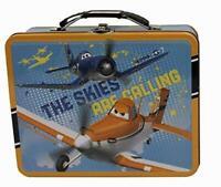 Disney Planes Skipper & Dusty 3D Effect Embossed Tin Lunch Box / Storage