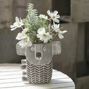 Succulent Flower Plant Concrete Koala Planter Craft Solid Lovely