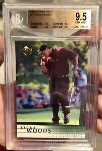 2001 Upper Deck Tiger Woods Rookie RC Bgs 9.5 True Gem 4 X 9.5, Cross To PSA 10?