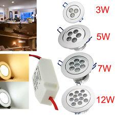 Lot 3-30x3W/5W/7W/9W/12W LED Spot Encastrable Plafond Plafonnier AMPOULE LED DHL